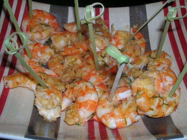 Crevettes piment es une recette toute simple pr parer l 39 avance pensez y pour vos - Recette a preparer a l avance ...